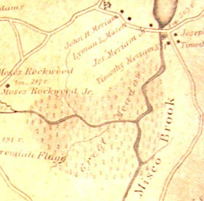 Great Meadow on 1831 Map of Grafton